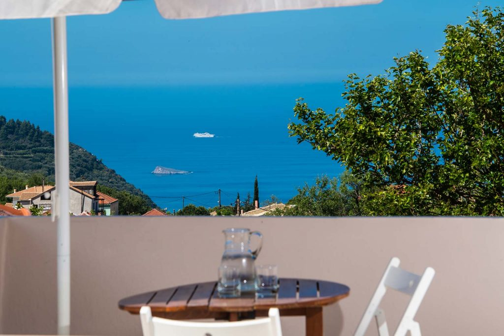 lefkada accommodation attic view villa loucia 2