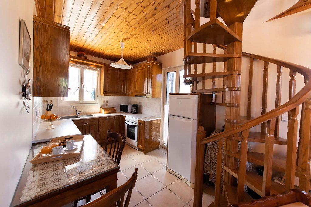 lefkada accommodation kitchen villa loucia 1