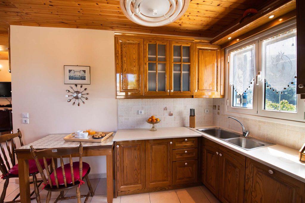 lefkada accommodation kitchen villa loucia 2