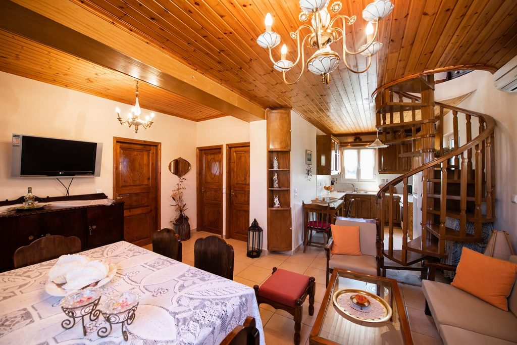 lefkada accommodation living room villa loucia 4